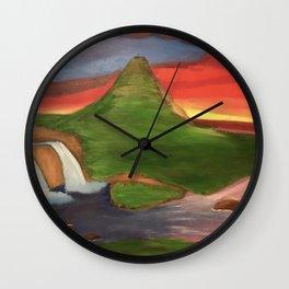 Kirkjufellsfoss Waterfall Wall Clock