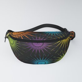 Colorful Christmas snowflakes pattern- holiday season gifts Fanny Pack