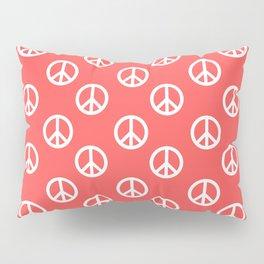 Peace (White & Salmon Pattern) Pillow Sham