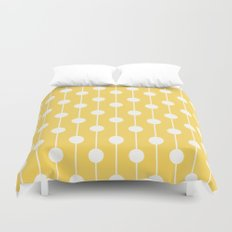 Yellow Lined Polka Dot Duvet Cover