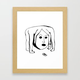 One Head with Two Bodies Framed Art Print