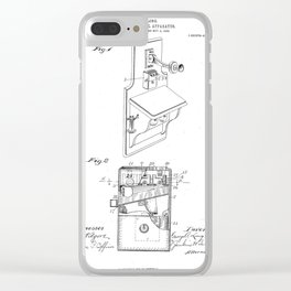 Telephone Toll Apparatus Vintage Patent Hand Drawing Clear iPhone Case
