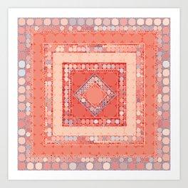 Multicolor Abstract Geometric Design Art Print