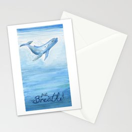 Whale - Take a deep breath Stationery Cards