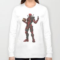 halo Long Sleeve T-shirts featuring Halo/Deadpool  by Molly Thomas