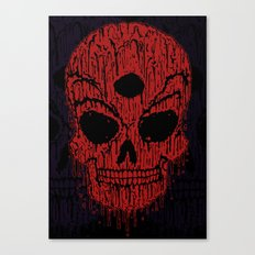 The Bloody Bloodskull of Blood Canvas Print