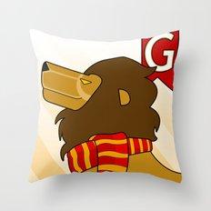 Gryffindor Lion Throw Pillow