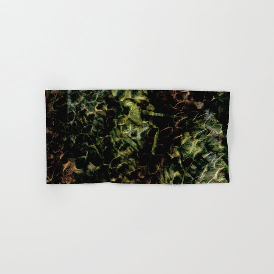 Green Fingerprints Hand & Bath Towel