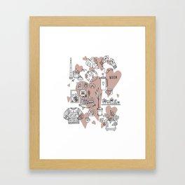 Cozy home Framed Art Print
