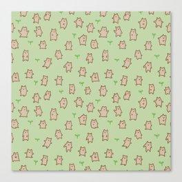 Tiny Bears Pattern Canvas Print