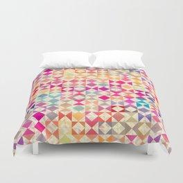 Rainbow Quilt 01 Duvet Cover