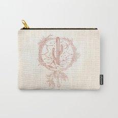 Desert Cactus Dreamcatcher Rose Gold Paper Carry-All Pouch