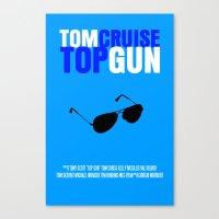 top gun Canvas Prints featuring Top Gun Movie Poster by FunnyFaceArt