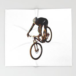 Mountain Biker Throw Blanket