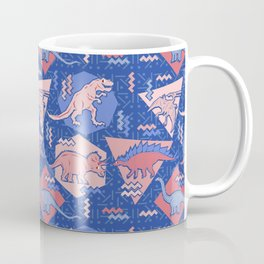 Nineties Dinosaurs Pattern  - Rose Quartz and Serenity version Coffee Mug
