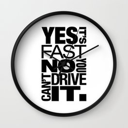 Yes it's fast No you can't drive it v6 HQvector Wall Clock