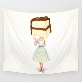 Cake Head Pin-Up - Chocolate Wall Tapestry