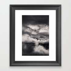 Within a Storm - Black and White Collection Framed Art Print