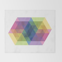 Fig. 030 Colorful Hexagon ZigZag Throw Blanket