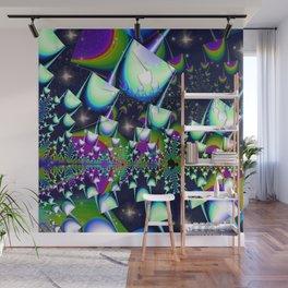 Rainbow psychedelic mushrooms Wall Mural