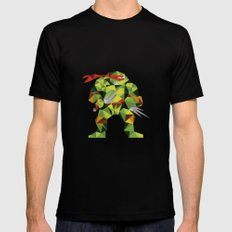 Twin Sai Turtle Black MEDIUM Mens Fitted Tee