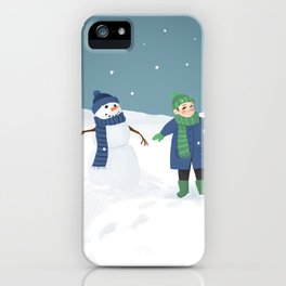 Snowman Twins iPhone Case