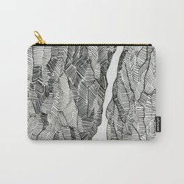 Split: lovely, hand-drawn, elements in black and white Carry-All Pouch