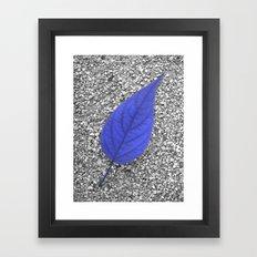 blue leaf IV Framed Art Print
