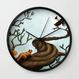 Ratatosk and the Eagle Wall Clock