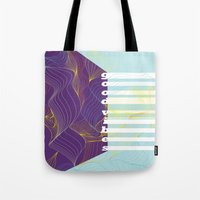 good vibes Tote Bags featuring GOOD VIBES by Urban Artist