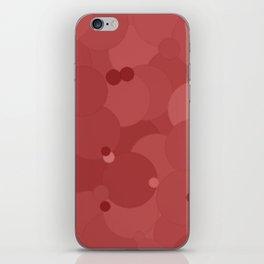 Dusty Cedar Bubble Dot Color Accent iPhone Skin