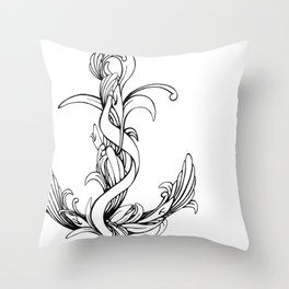 Anchor (outline) Throw Pillow