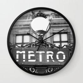 Metro - Paris, France Wall Clock