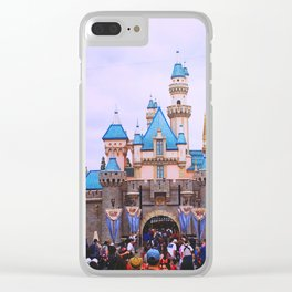 Sleeping Beauty Castle Clear iPhone Case