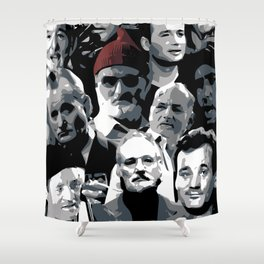 The Many Faces Of Bill Murray Shower Curtain