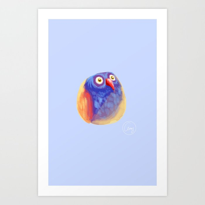 Funny Owl Art Print