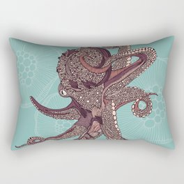 Octopus Bloom Rectangular Pillow