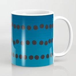 Ombre Blue Hawaii Ocean Gradient Duotone Spots Black Dots Coffee Mug