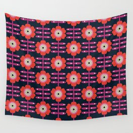 Shick - floral retro vintage flowers 70s style 1970's pop florals Wall Tapestry