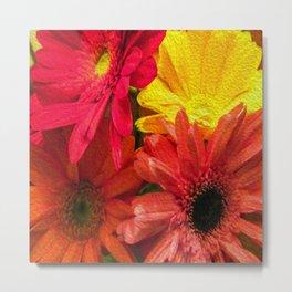 Sunny Daisy Flower Art Metal Print