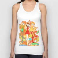 70s Tank Tops featuring 70s Disco Fever by Little Cello