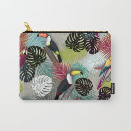 Tropical Birds (Color 2 - Bold) Carry-All Pouch