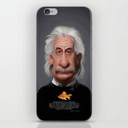 Celebrity Sunday ~ Albert Einstein Genius Fish iPhone Skin