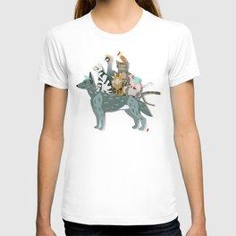 Dogs, cats, birds T-shirt
