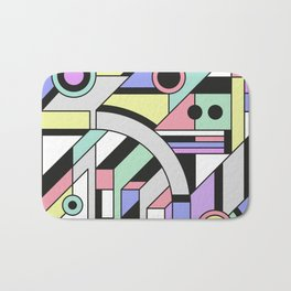 De Stijl Abstract Geometric Artwork Bath Mat