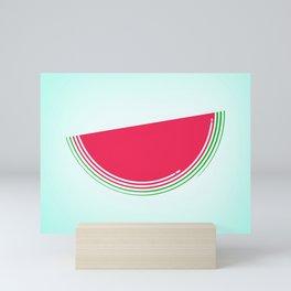 minimal watermelon Mini Art Print