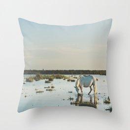 Camargue Horses XXI Throw Pillow