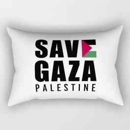 Save Gaza Quote Rectangular Pillow