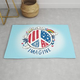 Imagine Love Imagine Peace Rug