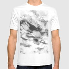 Grayscale Agate Mens Fitted Tee White MEDIUM